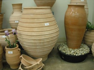 Pots for water features, focal points and container gardening