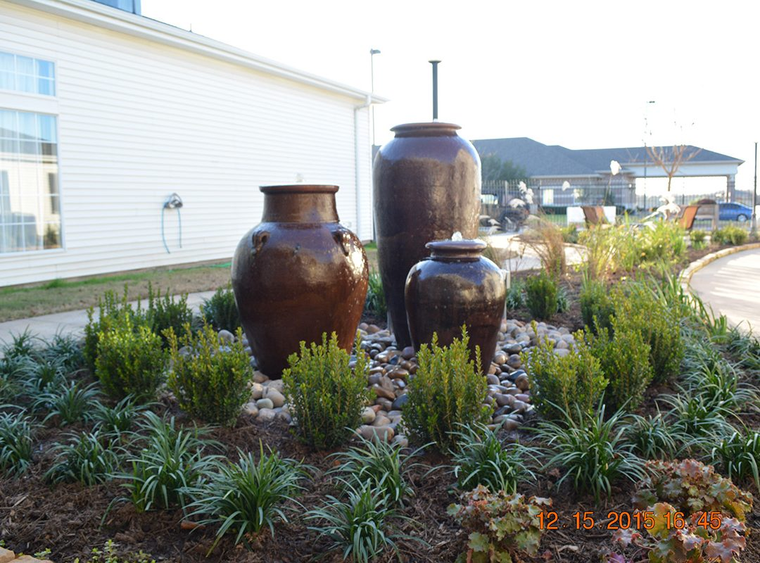 water features, fountains, bubblers, landscaping