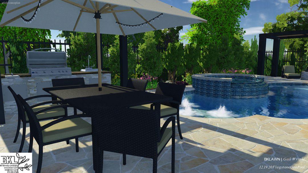 residential landscape design, patio design