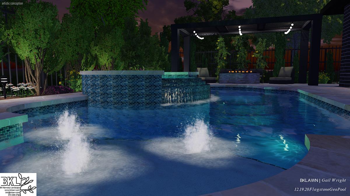 residential landscape design, pool design
